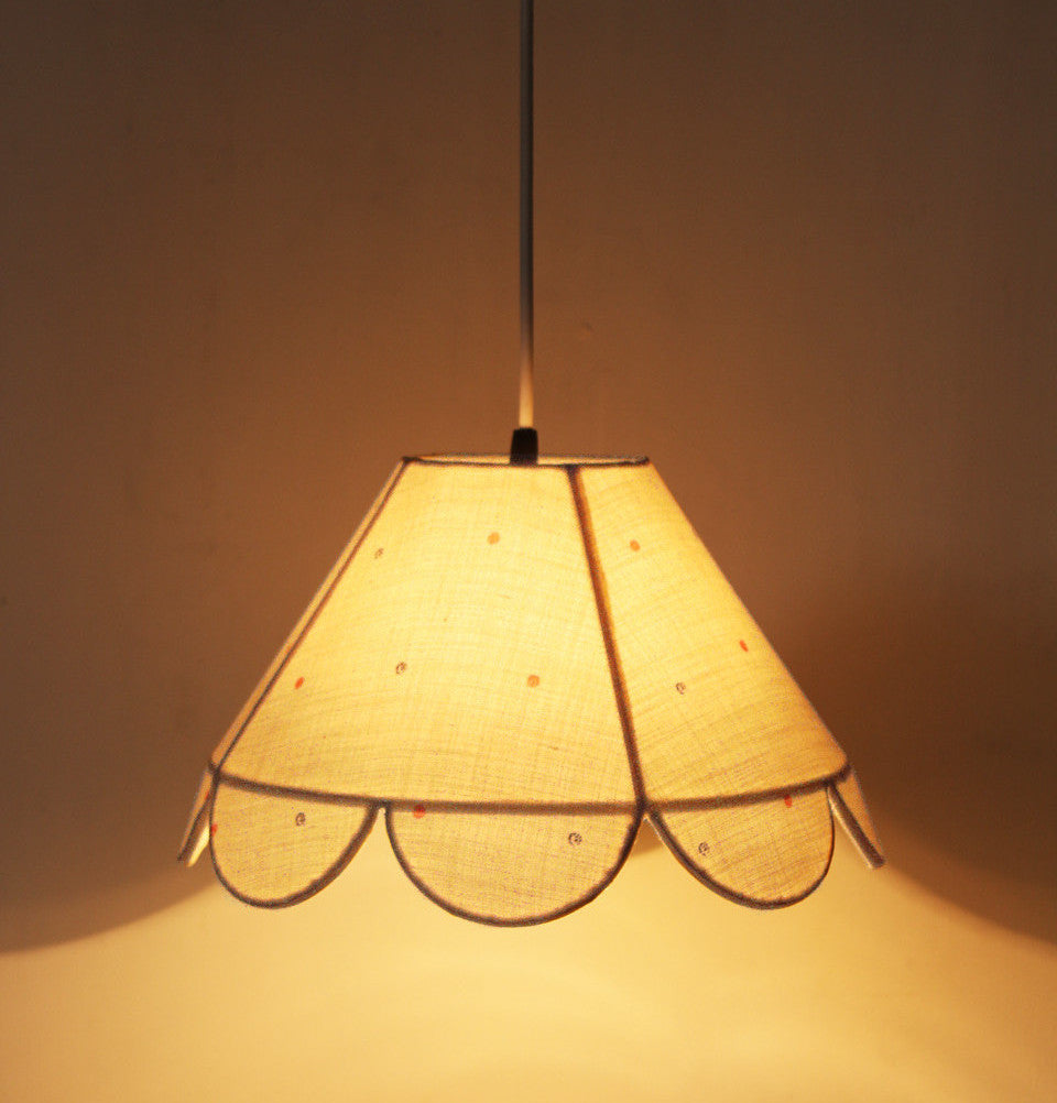 Polka Scalloped Lamp