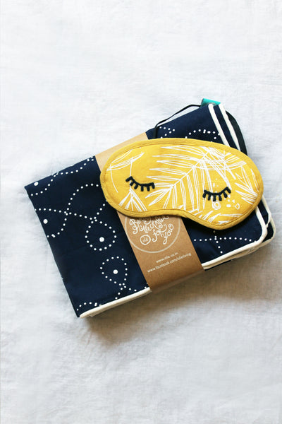 Kolam Pillowcases + Eye mask sleep set