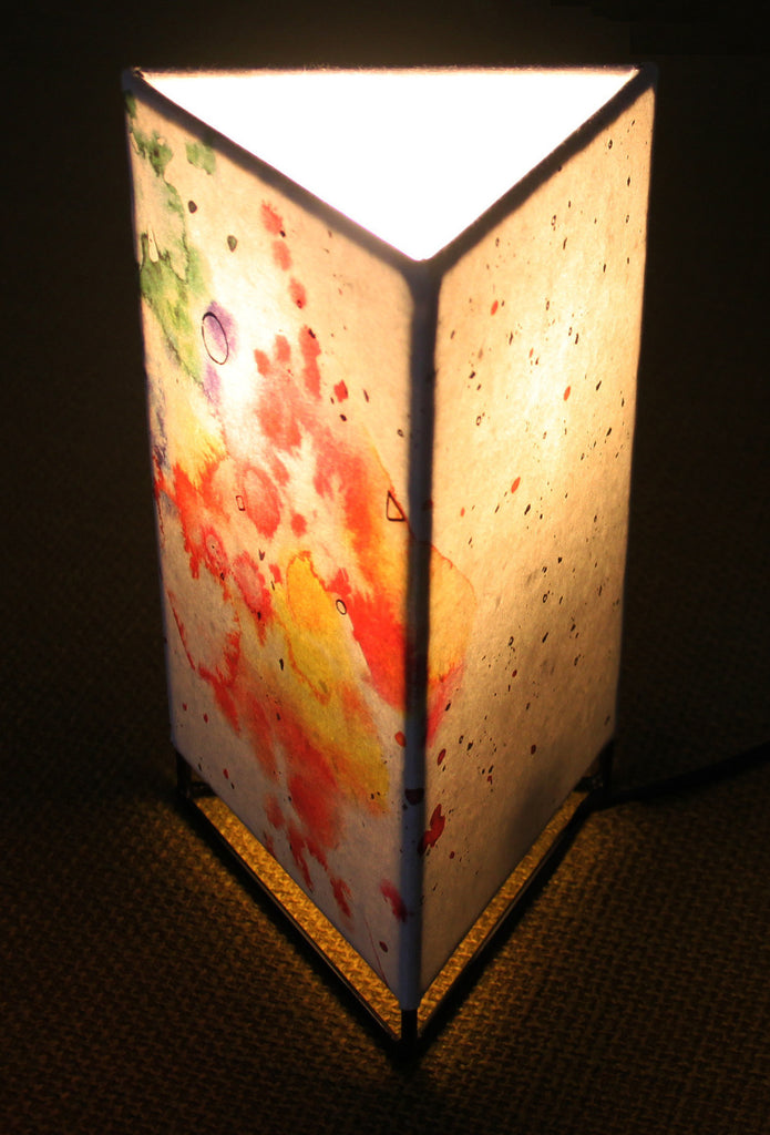 Limited Edition Splash Triangle Table Lamp