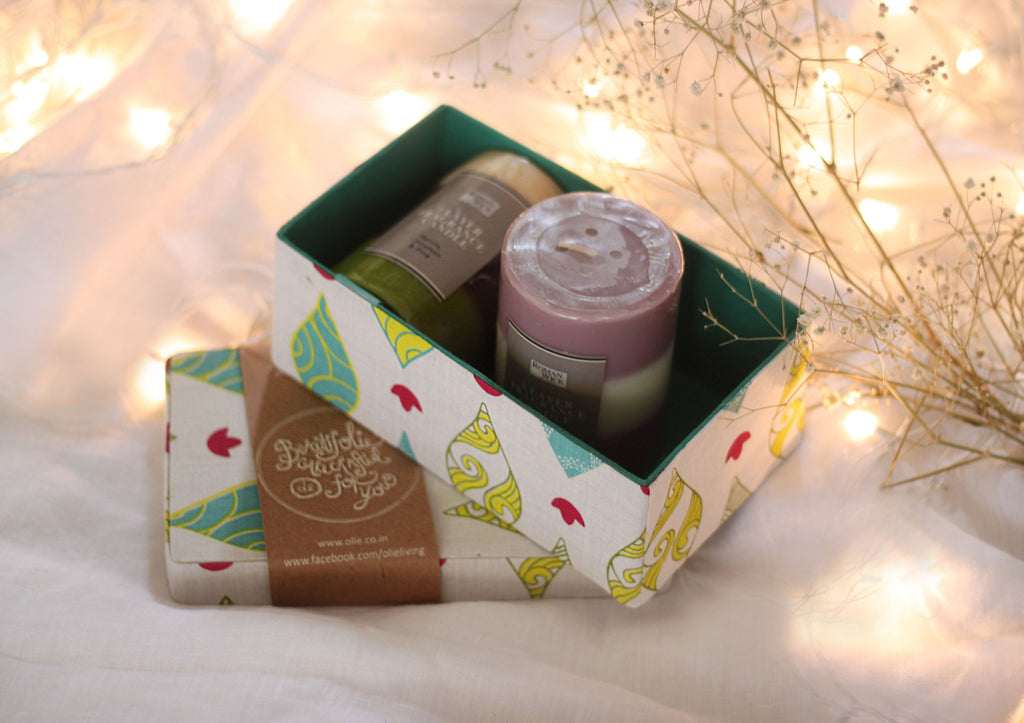 Windsong Long Box and Candle set
