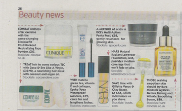 DCL Skincare in the Daily Express