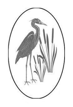 Egret&Cattails_Left Oval Vinyl Etching