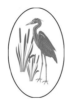 Egret&Cattails_Right Oval Vinyl Etching