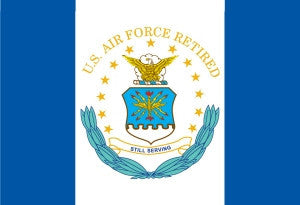 The Flag of US Air Force Retired