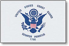 The Flag of US Coast Guard