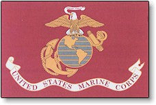 The Flag of US Marines Corps