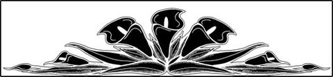 Lily Border Vinyl Etching