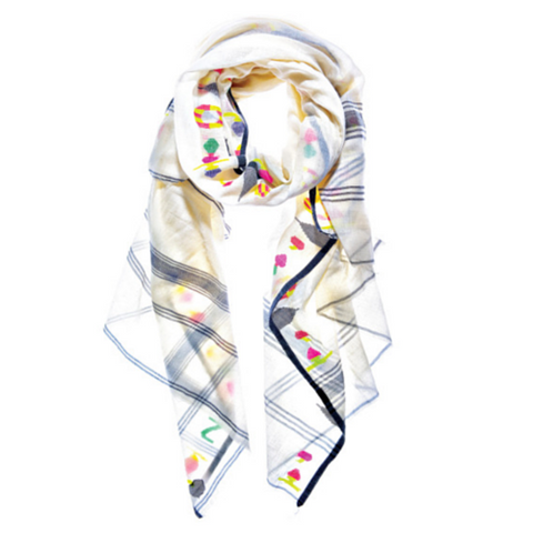 Drops of Color Scarf by Aish