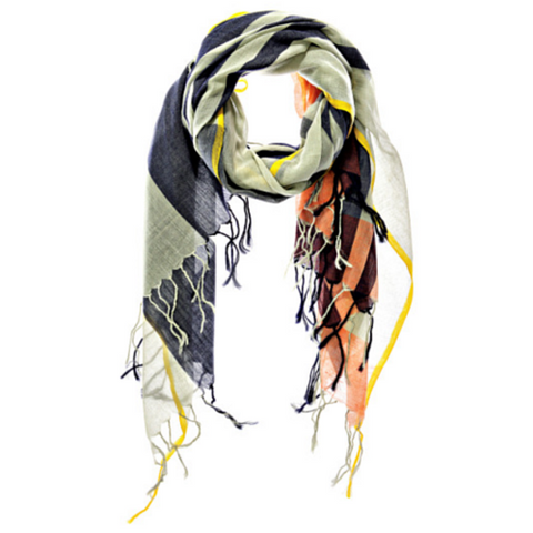 Modernist Plaid Scarf by Aish