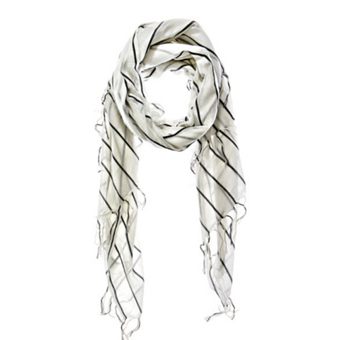 Lovely Rita Scarf White by Aish