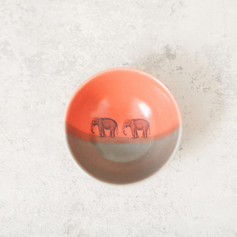 Elephant Double-Dipped Snack Bowl