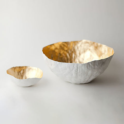 Golden Paper Bowl