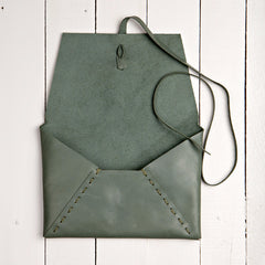 Istanbul Clutch Leather Jade