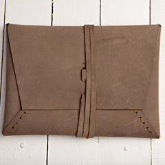Istanbul Clutch Soft Brown Suede
