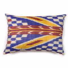 Firefly Ikat Silk Pillow Cover