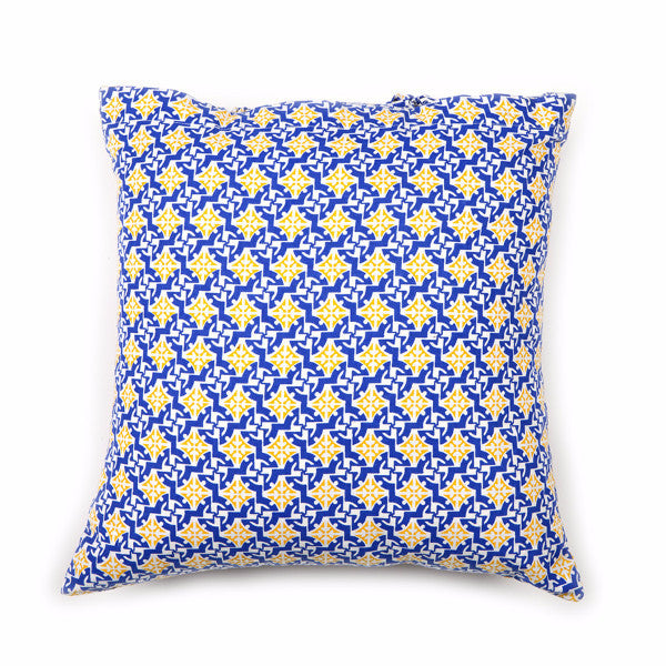 Mediterranean Cotton Pillow Cover