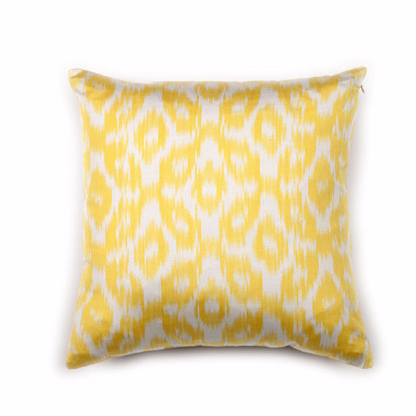 Lemonade Ikat Silk Pillow Cover