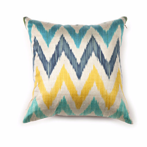 Multicolor Chevron Ikat Pillow Cover