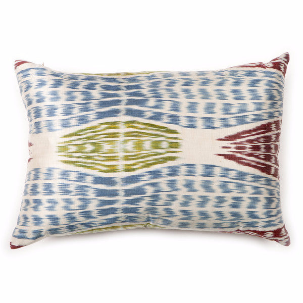 Falling Leaves Ikat Silk Pillow Cover