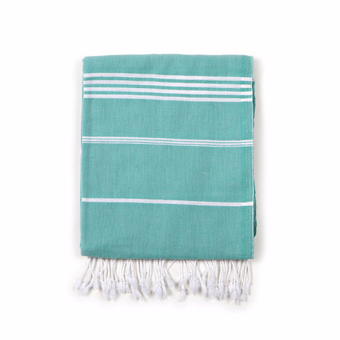Classic Turkish Fouta Towel Green