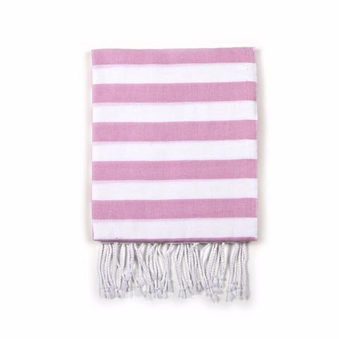 Stripe Turkish Fouta Towel - Pink