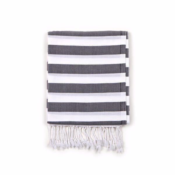 Gray Turkish Fouta Hammam Towel