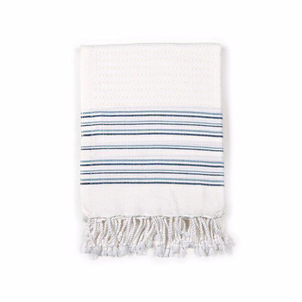Luxury Turkish Bath Hammam Towel Blue