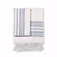 Luxury Turkish Bath and Hand Hammam Towel Blue