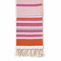 Dual-Sided Turkish Fouta Towel - Sunkissed