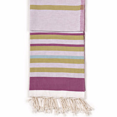 Dual-Sided Turkish Fouta Towel - Fuchsia
