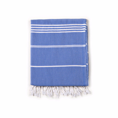 Classic Turkish Fouta Towel - Blue