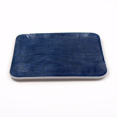 Navy Rectangular Serving Platter