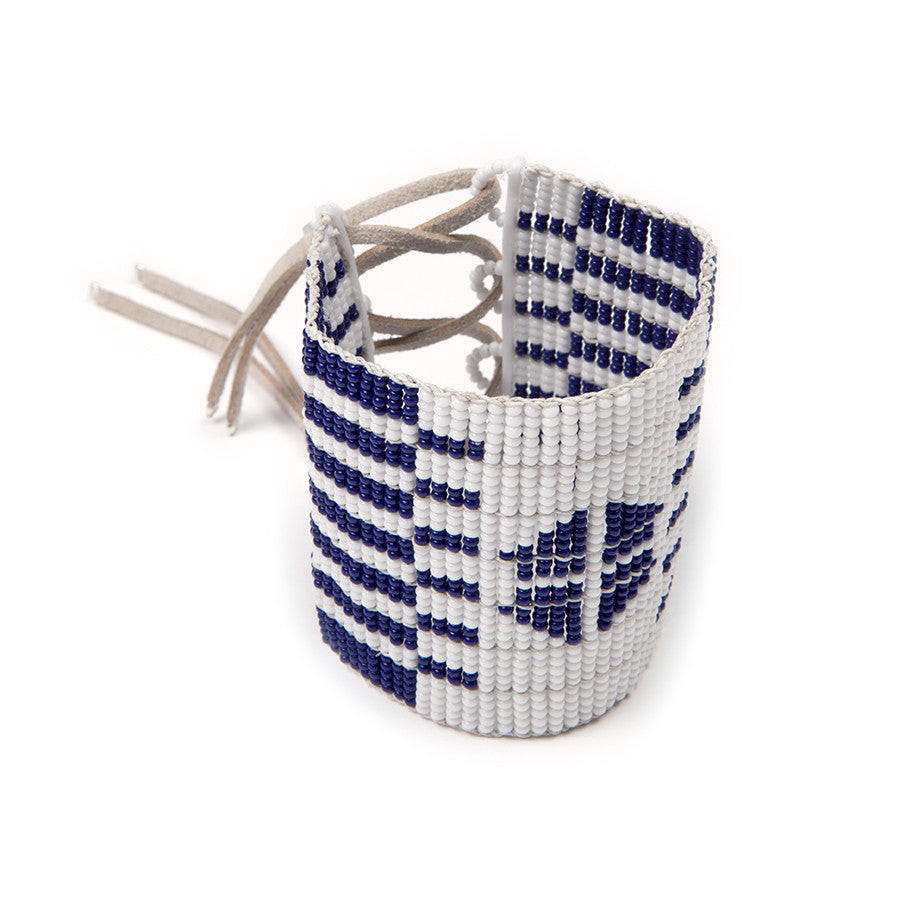 Tribal Print Cuff Navy