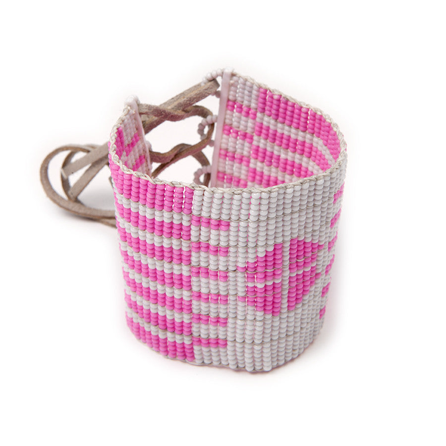 Tribal Print Cuff Hot Pink