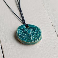 Lace Ceramic Necklace Turquoise