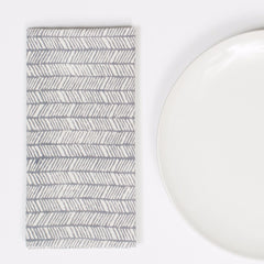 Feather Gray Napkins - Set of 4