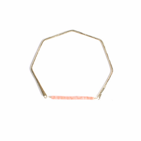 Geometric Gemstone Bangle Coral
