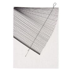 Hangin' Around Striped Tea Towel Black