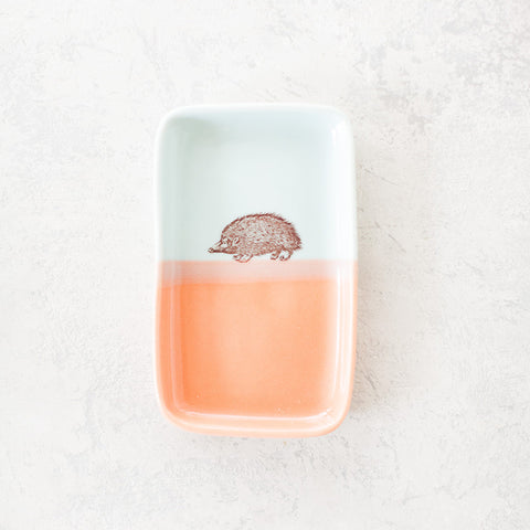 Double-Dipped Trinket Tray - Hedgehog