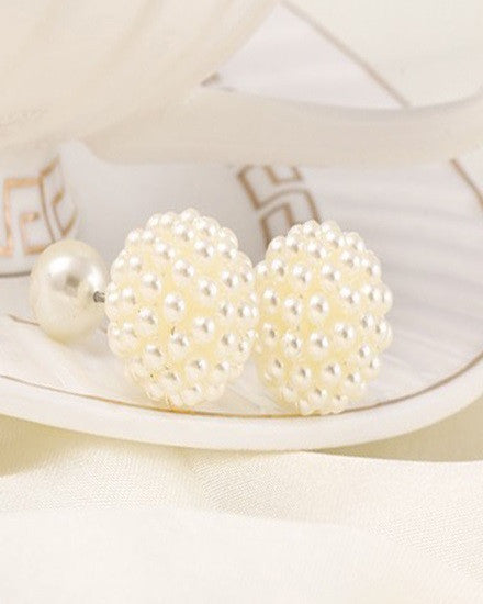 Double Pearl Earrings - The Jewelry Lady - 2