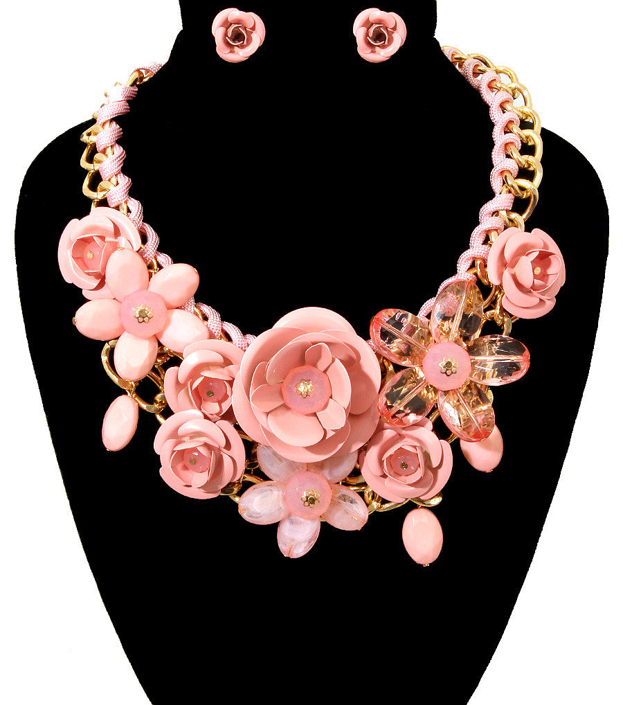 Rose Statement Necklace - The Jewelry Lady - 10
