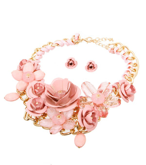 Rose Statement Necklace - The Jewelry Lady - 11