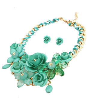 Rose Statement Necklace - The Jewelry Lady - 2