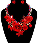 Rose Statement Necklace - The Jewelry Lady - 20