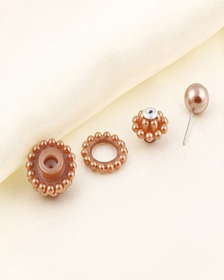 Double Pearl Earrings - The Jewelry Lady - 5