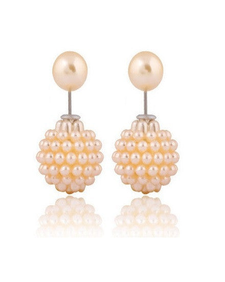 Double Pearl Earrings - The Jewelry Lady - 6