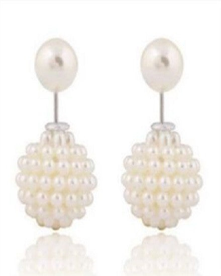 Double Pearl Earrings - The Jewelry Lady - 1