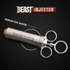 Meat Injector Kit Marinade Flavor Infuser w/ 3 Needles BEAST Injector