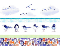 Bird and Pebble Shower curtain