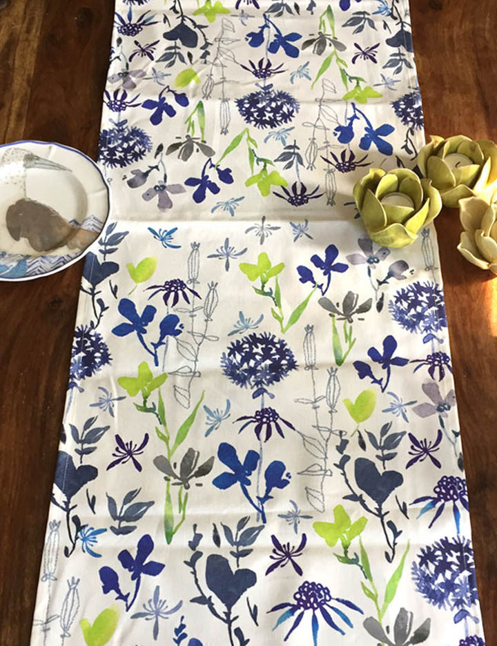 Sea Breeze Floral Table Runner